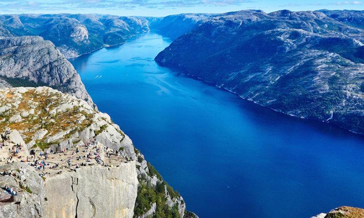 Norwegen, Preikestölen
