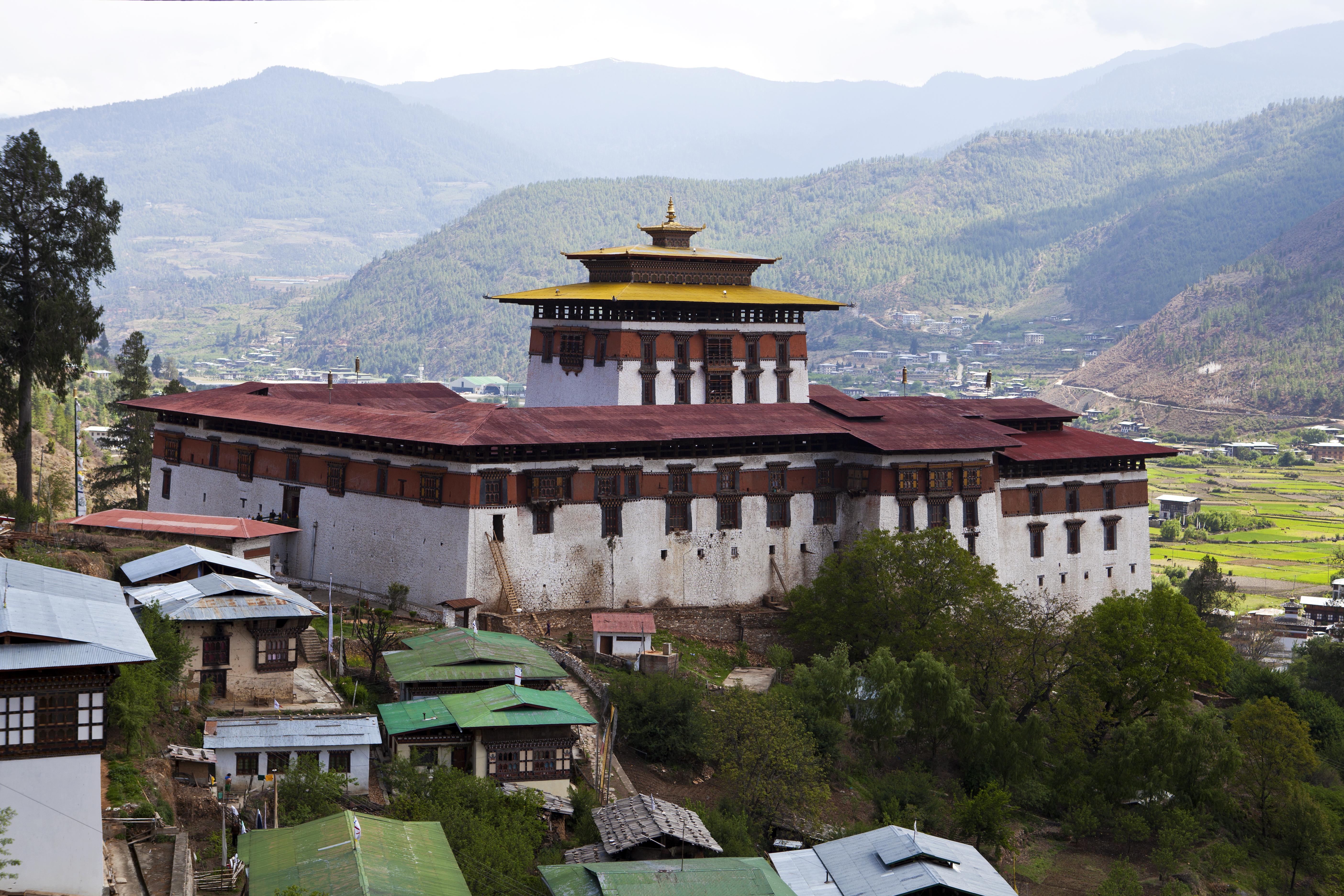 Der Rinpun Dzong von Paro
