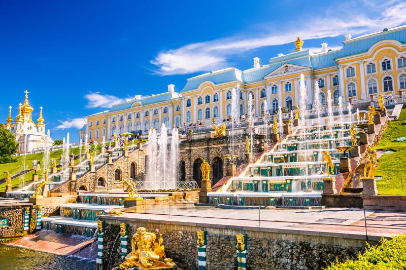 Peterhof mit seinen Kaskaden