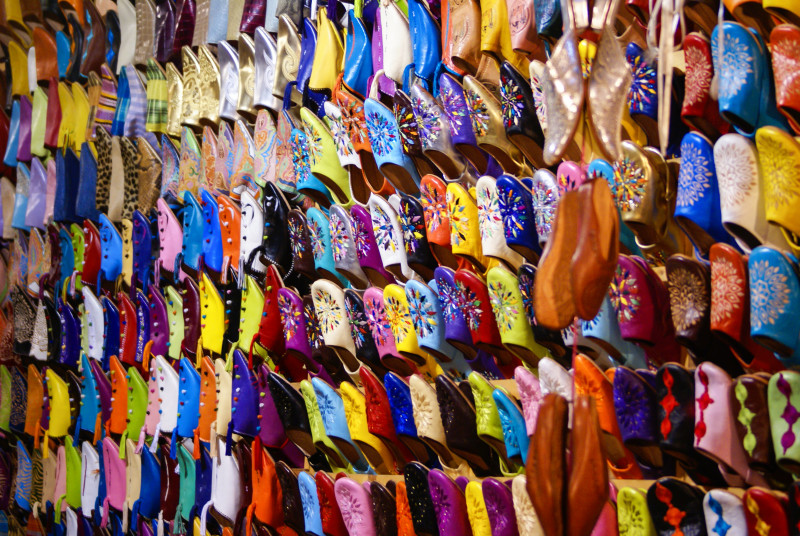 Marrakesch, Lederschuhe