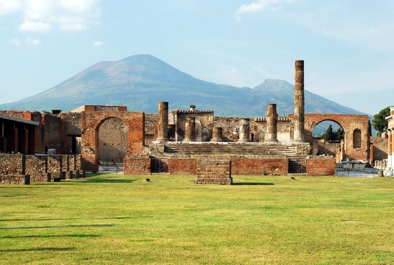 Ruinen von Pompeii beim Vesuv