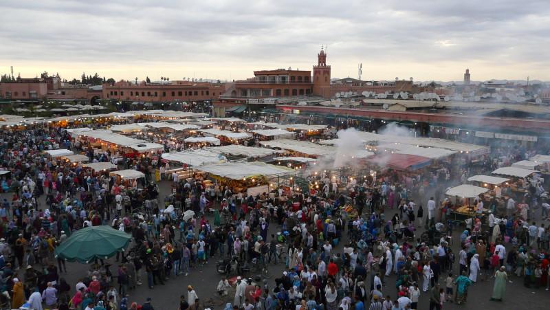 Marrakesch, Marokko, Hauptplatz Djemaa El Fna