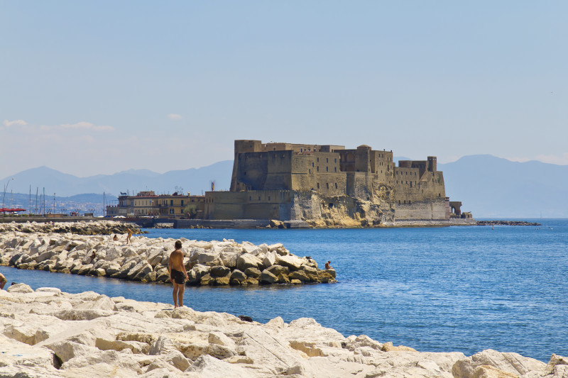 Neapel, Castel dell'Ovo, Italien, Insel mit Festung