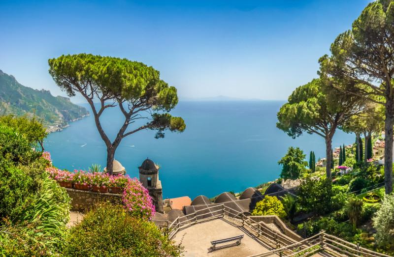 Ausblick auf den Golf von Salerno