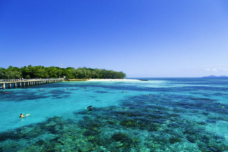 Glasklares Wasser am Great Barrier Reef