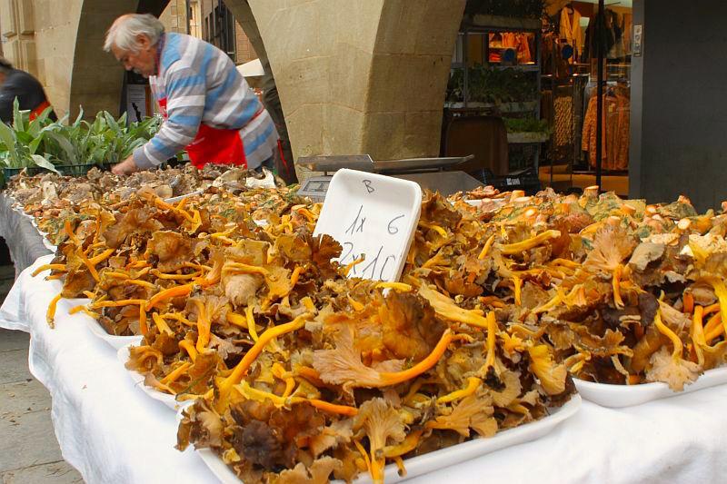 Pilze auf dem Markt in Vic