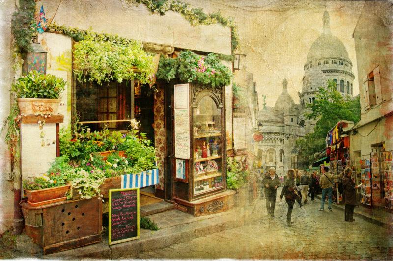 Postkartenmotiv Paris von früher