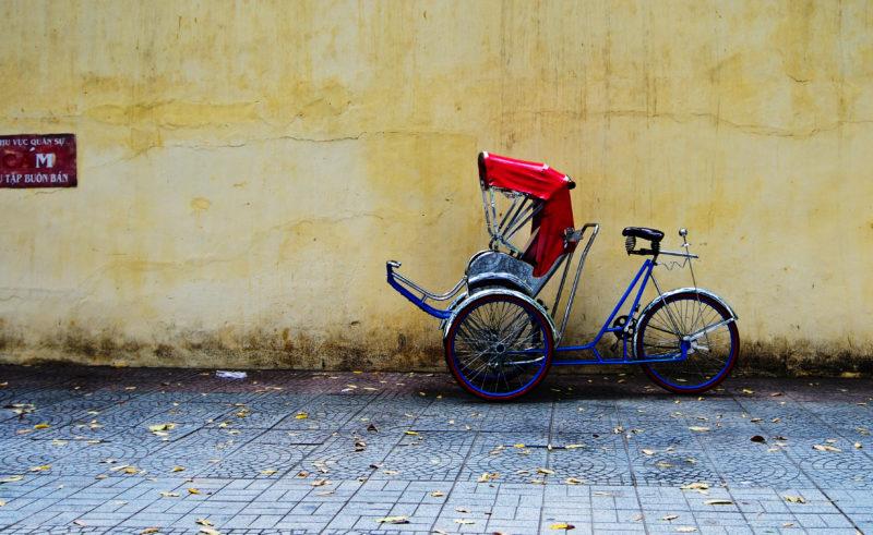 Abgestellte Fahrradrikscha