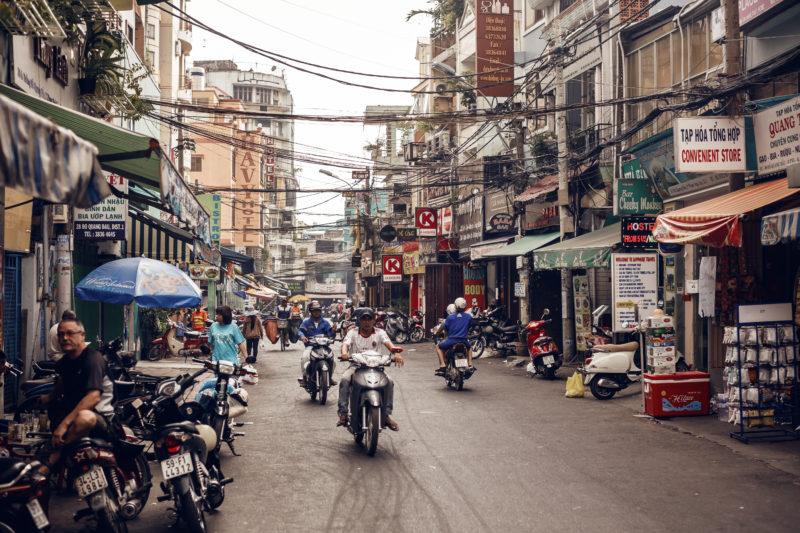 Einkaufsgassen in Ho Chi Min (Saigon), Vietnam