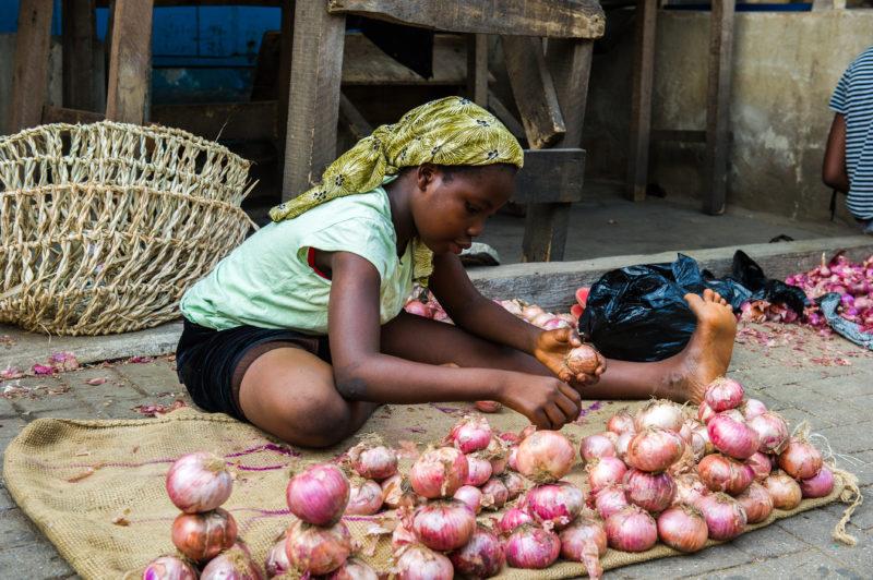 Ghana Frau Markt