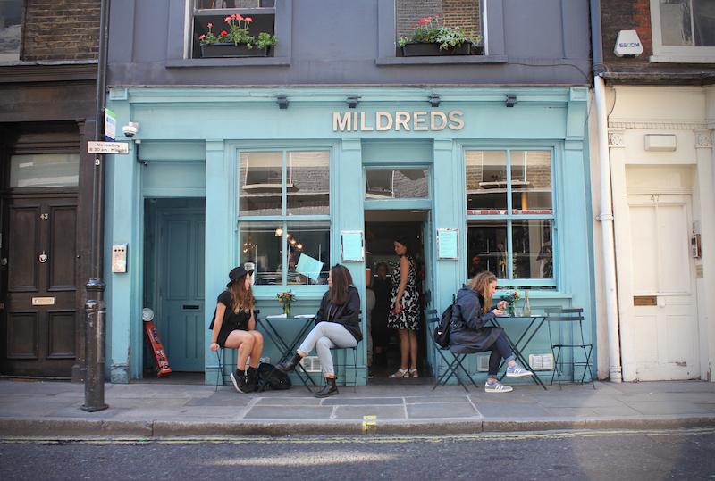 Vegan auf Reisen Mildreds London