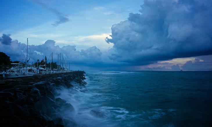 Gefangen im Taifun