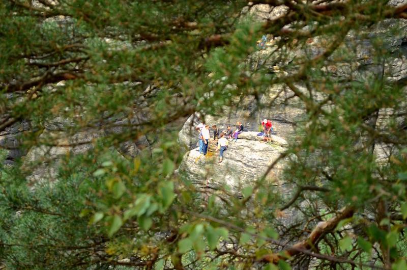 Kletterer am Pfaffenstein