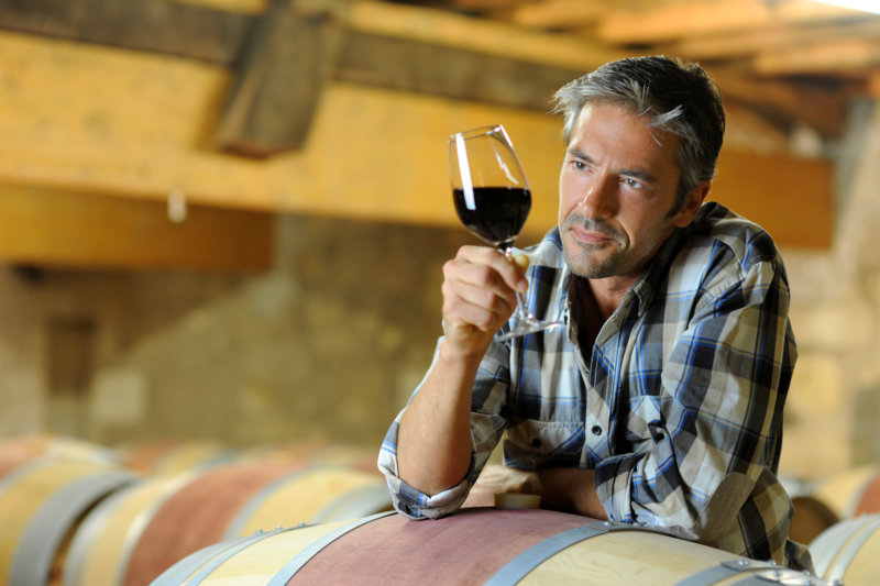 offenen Kellertüren  beim Weintourismus in Australien