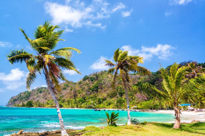 Palmenstrand in Panama