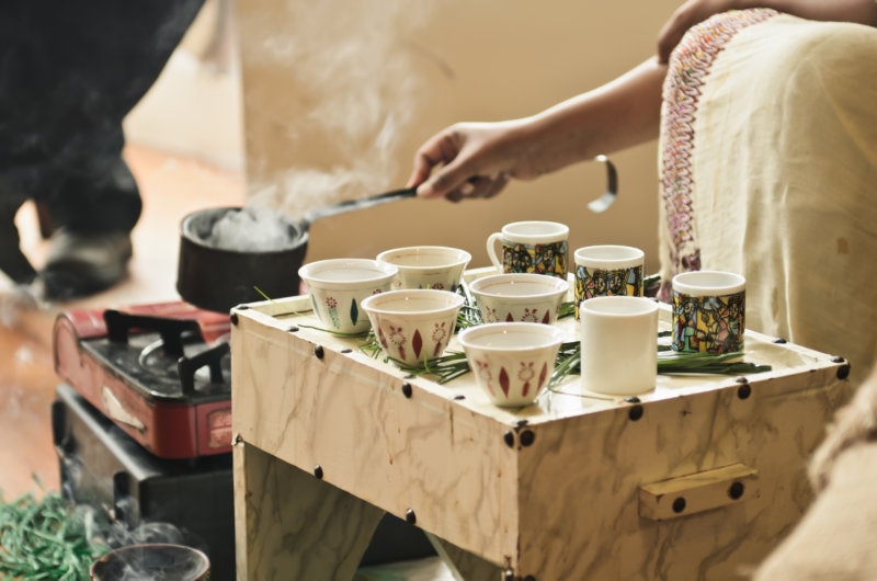 Cassian Kaffeezeremonie in Äthiopien