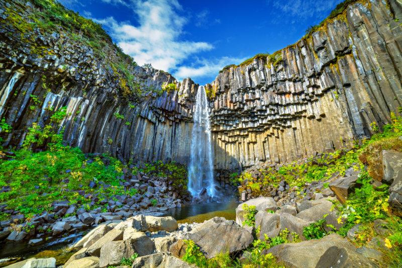Svartifoss-Wasserfall im Vatnajökull-Nationalpark