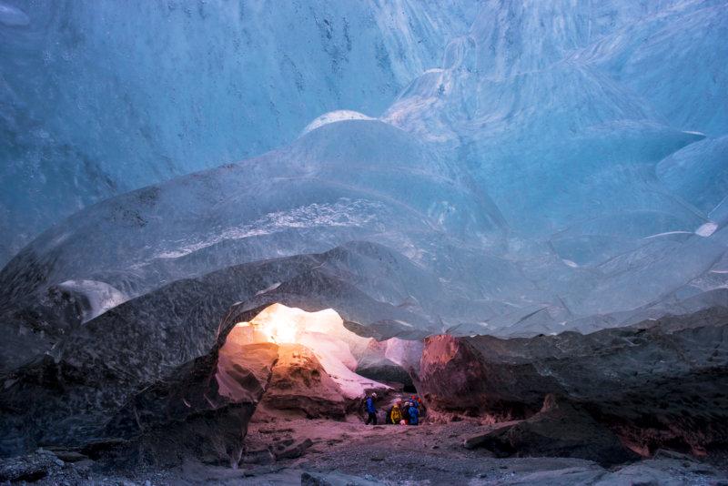 Vatnajökull-Nationalpark, Höhlenwanderung