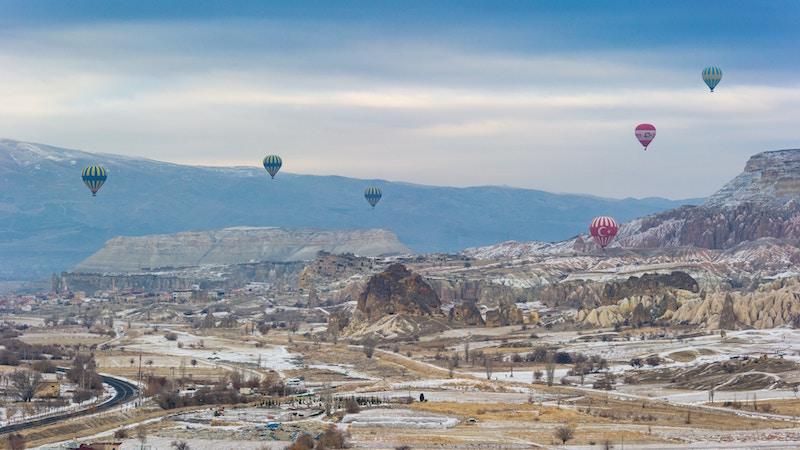 Viele Ballons in Kappadokien