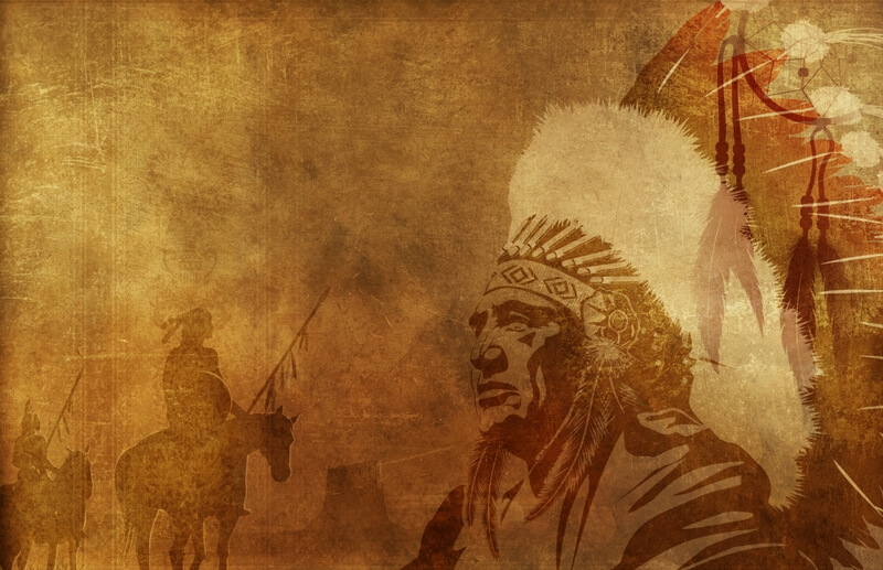 verblassendes Bild von Indianern