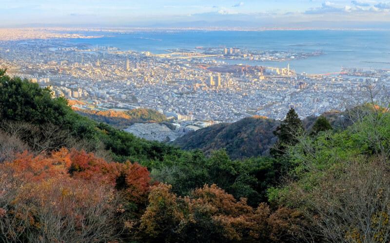 Blick auf Kobe