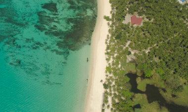 Luzon Strandbild aus der Luft