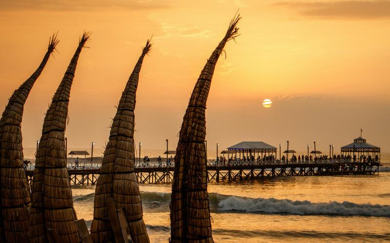 Sonnenuntergang im FischerdorfHuanchaco