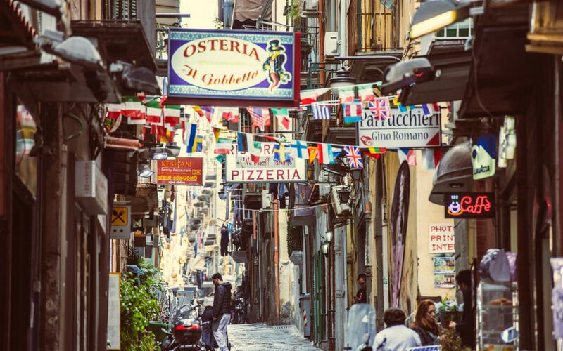 Enge Gassen in Neapel