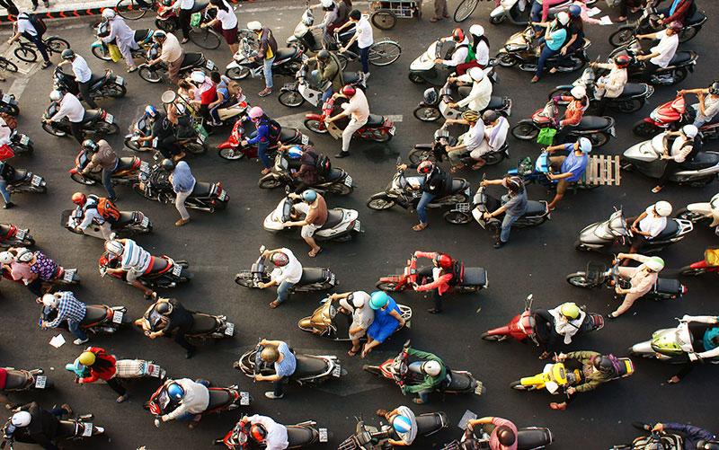 Chaos in Perfektion: Unterwegs im Straßenverkehr von Saigon