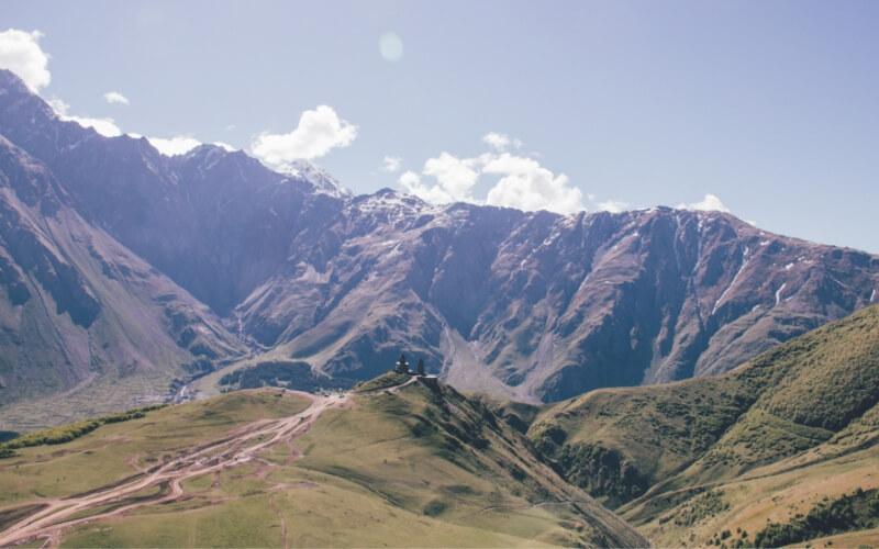 Berglandschaft in Georgien