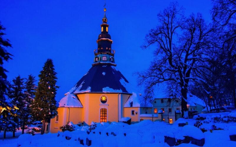 Kirche in Seiffen, Erzgebirge