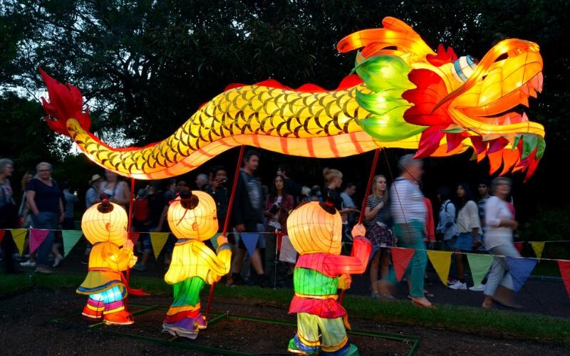 Chinesisches Laternen Festival in Auckland im Februar