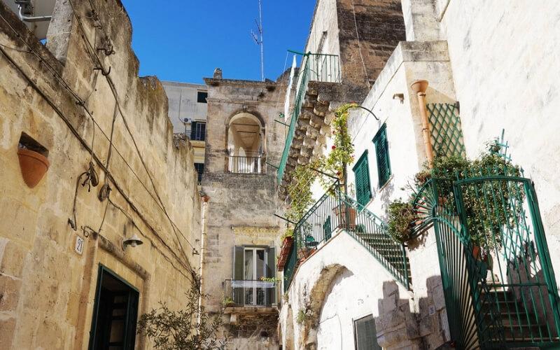 Typische Häuseransicht Matera