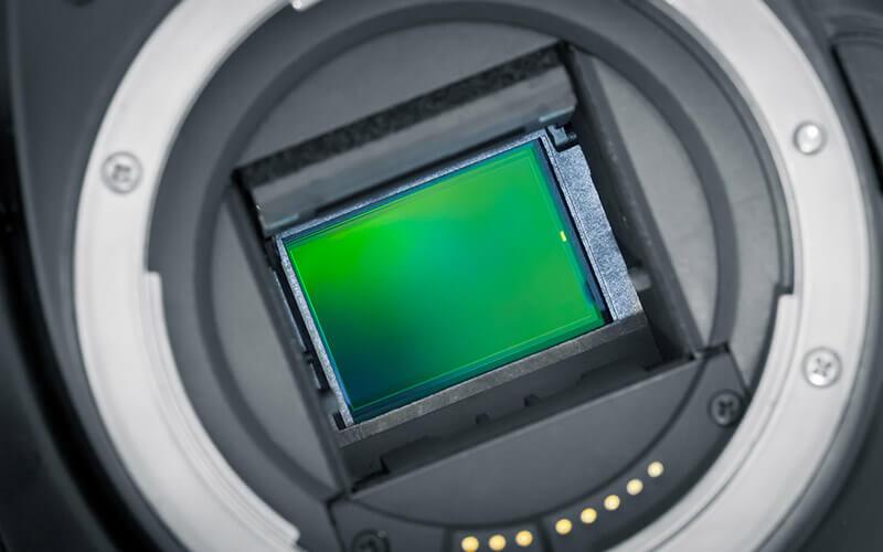 Der Sensor einer spiegellosen Kamera