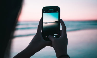 Smartphone-Foto am Strand