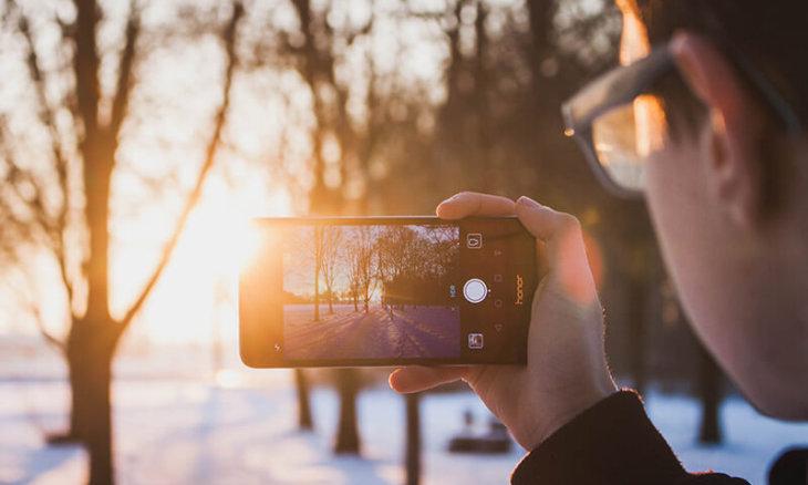 Smartphone-Gegenlicht-Foto