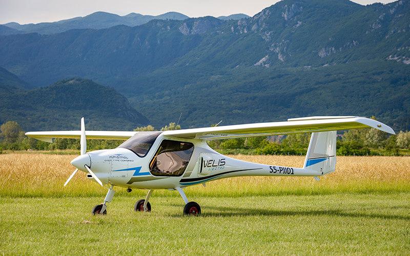 Flugzeug Pipistrel Velis für den Elektro-Weltrekordflug